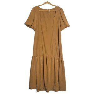 Free People Tan Maxi Dress
